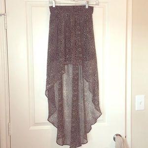 Ecote Tribal Print High Low Skirt sz Med